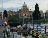 Parlament am Abend, Victoria, BC