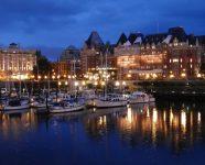 Hafen nachts, Victoria, BC