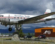Größte Wetterfahne der Welt in Whitehorse, Yukon