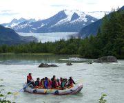 Rafting Mendenhall River in Juneau, Alaska
