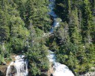 Wasserfall und White Pass & Yukon Route, Skagway