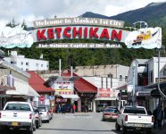 Main Street in Ketchikan